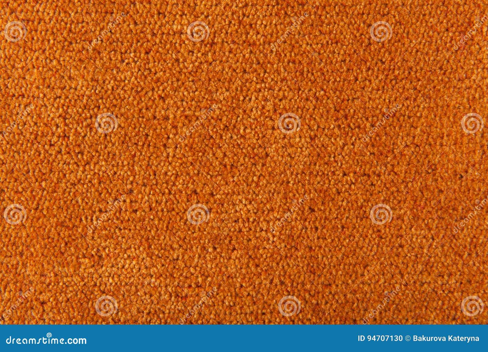 Fabric texture orange carpeting