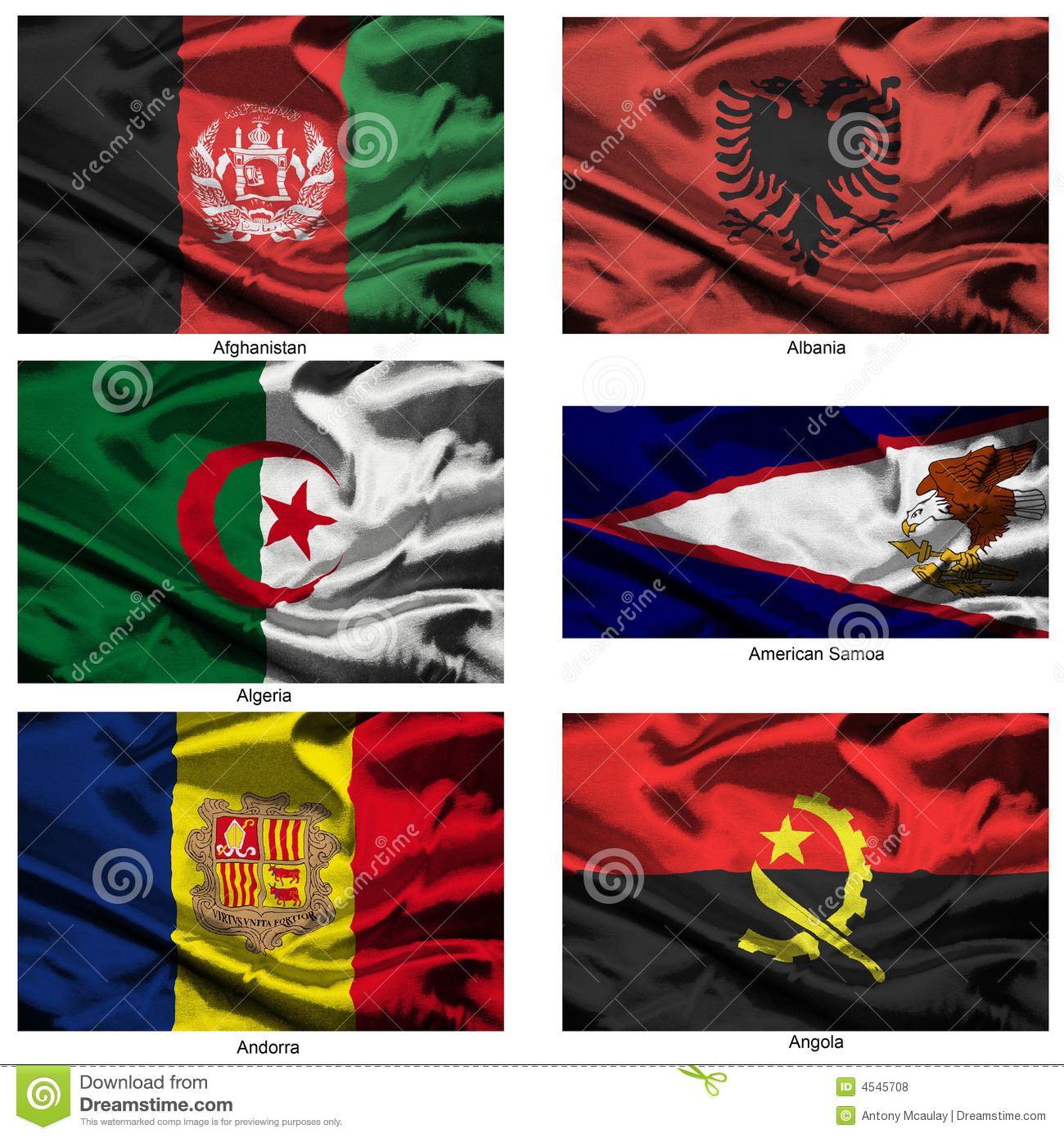 Fabric world flags collection 43 royalty free stock for Fabric world