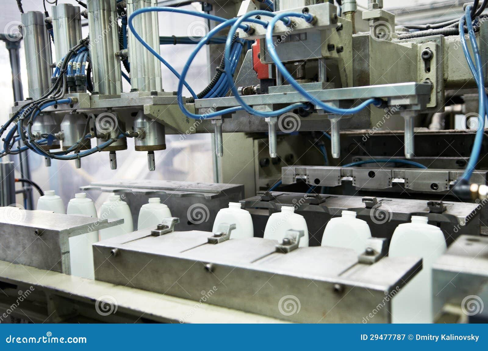 A fabricação do plástico engarrafa o prodoction