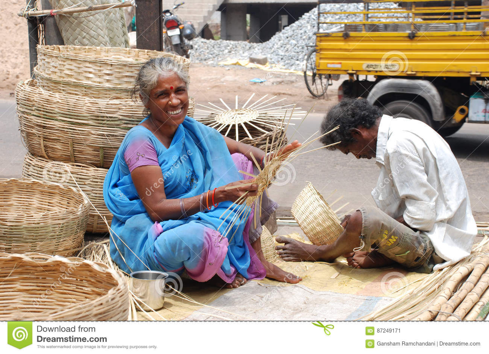 Fabricantes de cesta de bambú