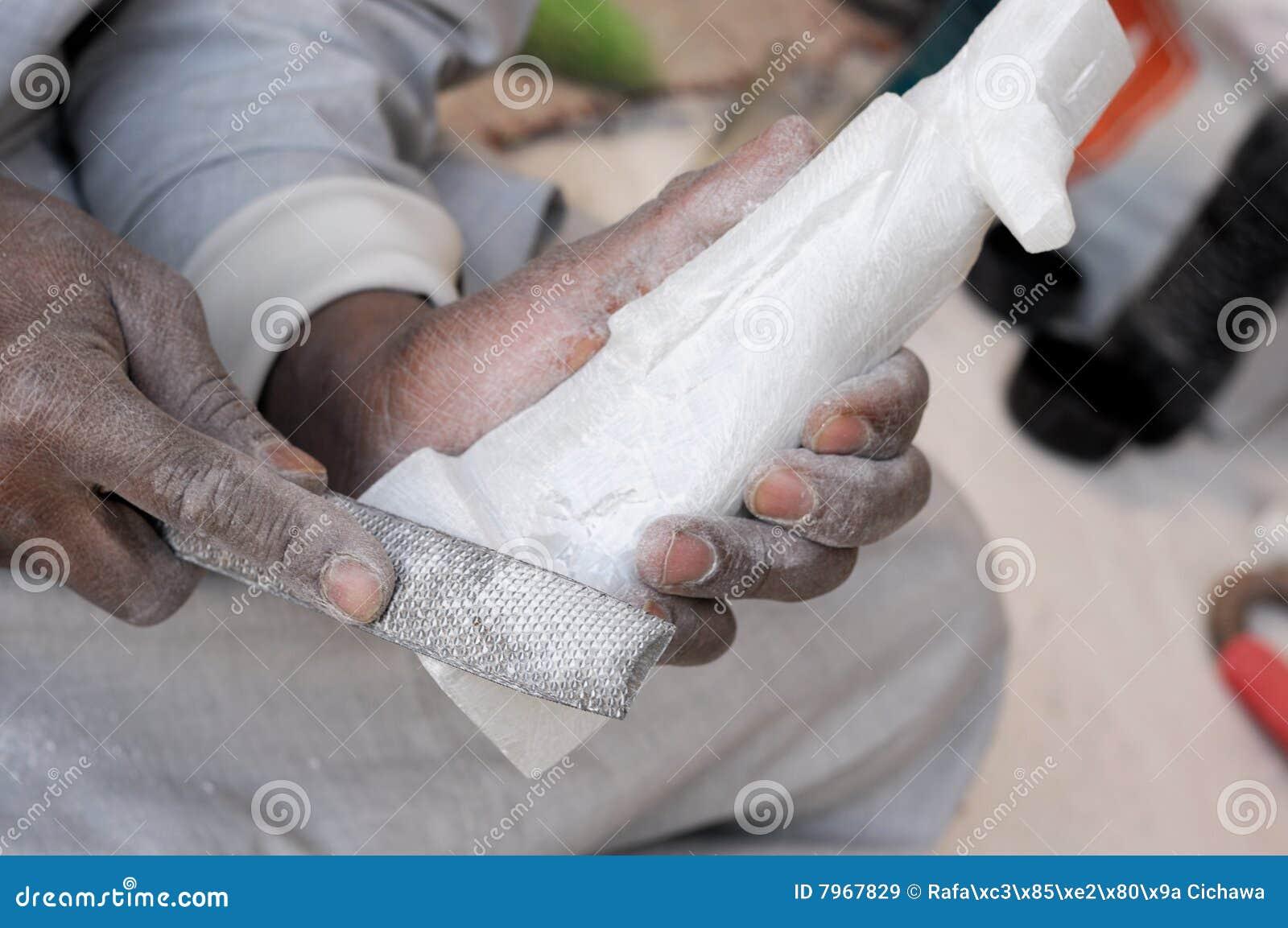 Fabrication fabriquée à la main d albâtre