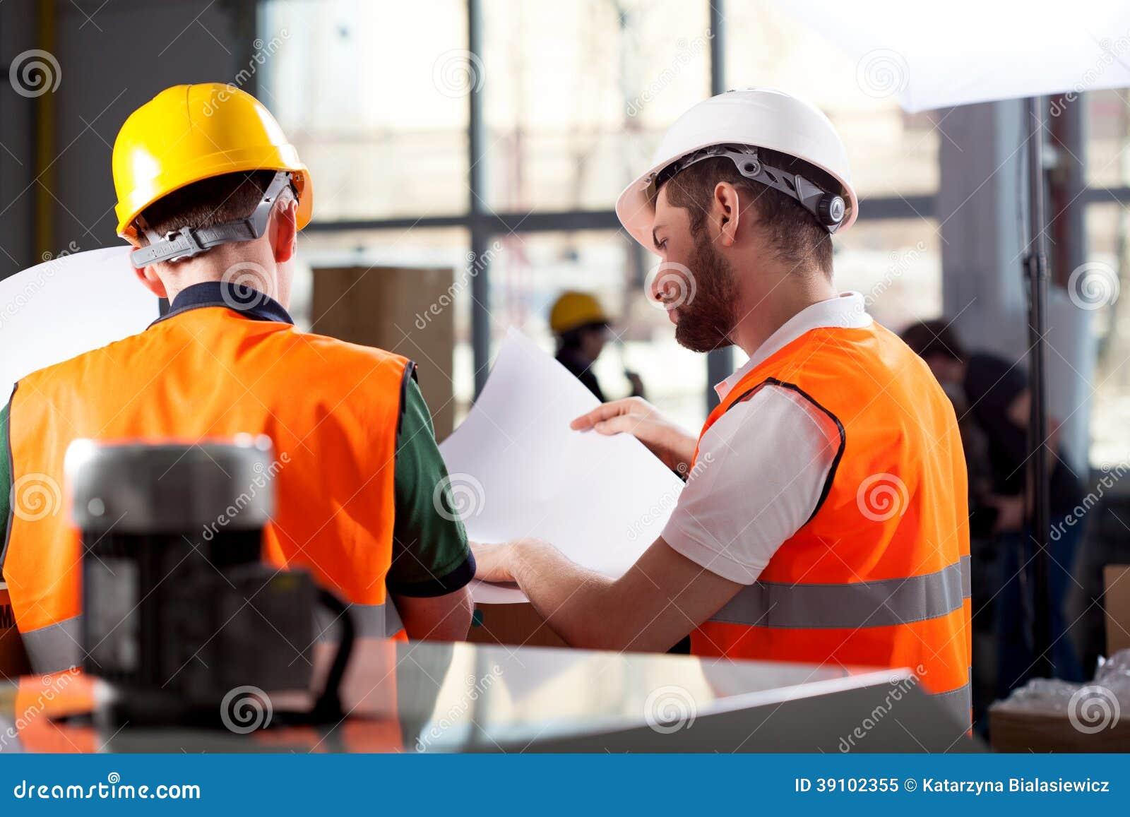 Fabrieksarbeiders planning