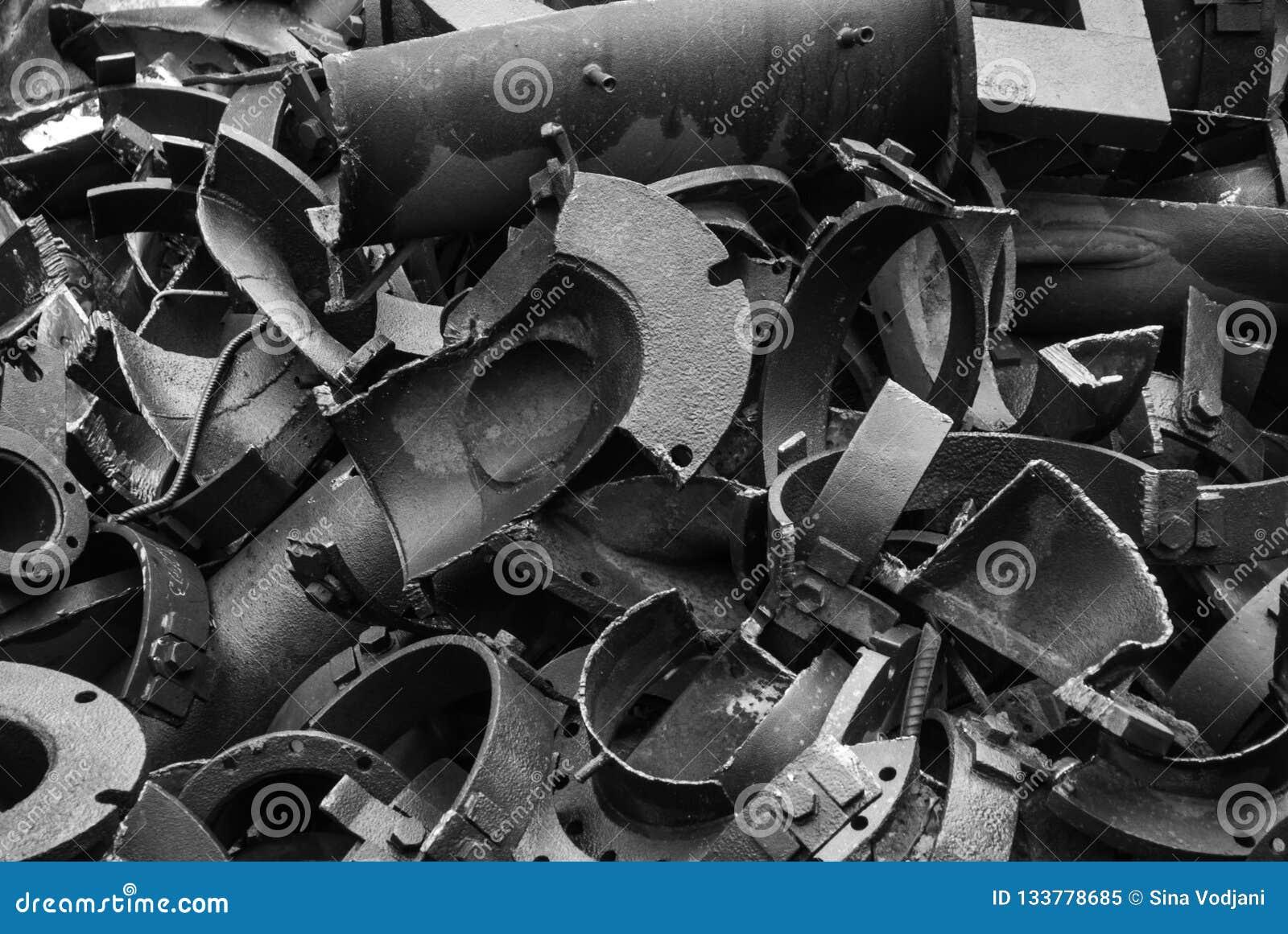 Fabrik rotto di metallurgia dei rifiuti del metallo nell ARBED Lussemburgo
