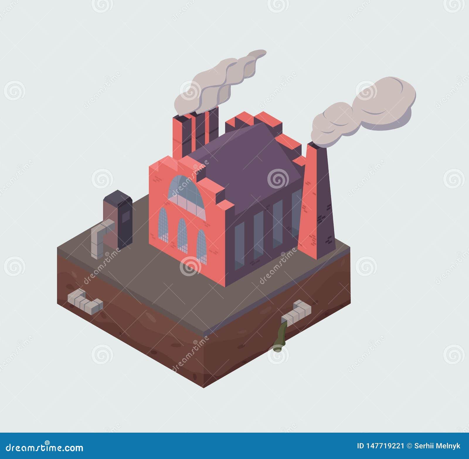 Fabriks- eller växtbyggnad