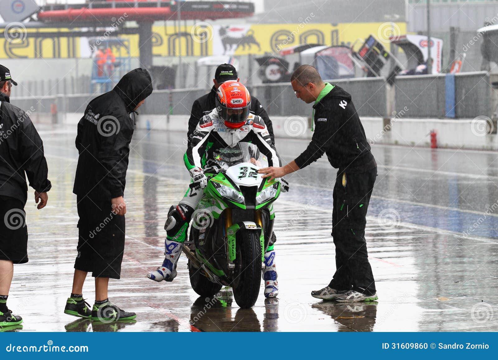 Fabrizio Lai #32 on Kawasaki ZX-10R Kawasaki Racing Team Superbike WSBK