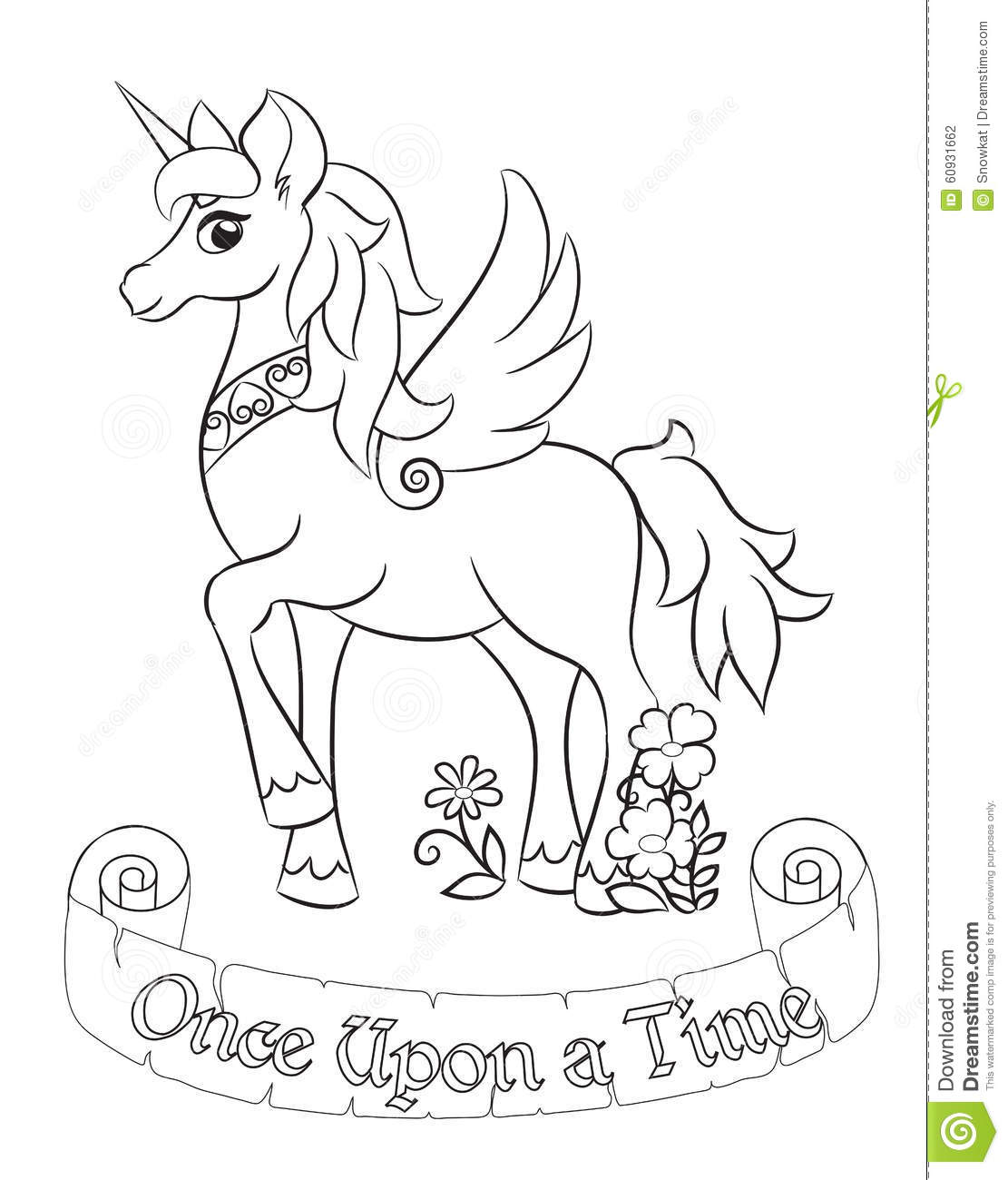 Unicorn And Fairy Coloring Pages