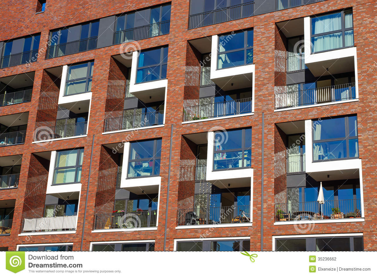 Elegant Facade Of An Apartment Building Stock Photography Image 35236662