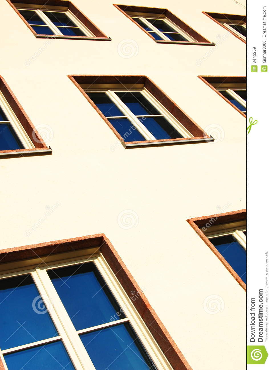Facade of apartment house