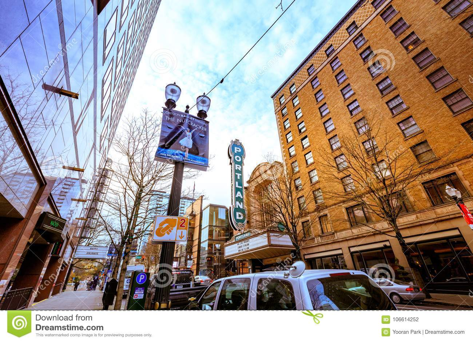 Facade Of Arlene Schnitzer Concert Hall In Downtown Portland - Arlene schnitzer concert hall portland oregon