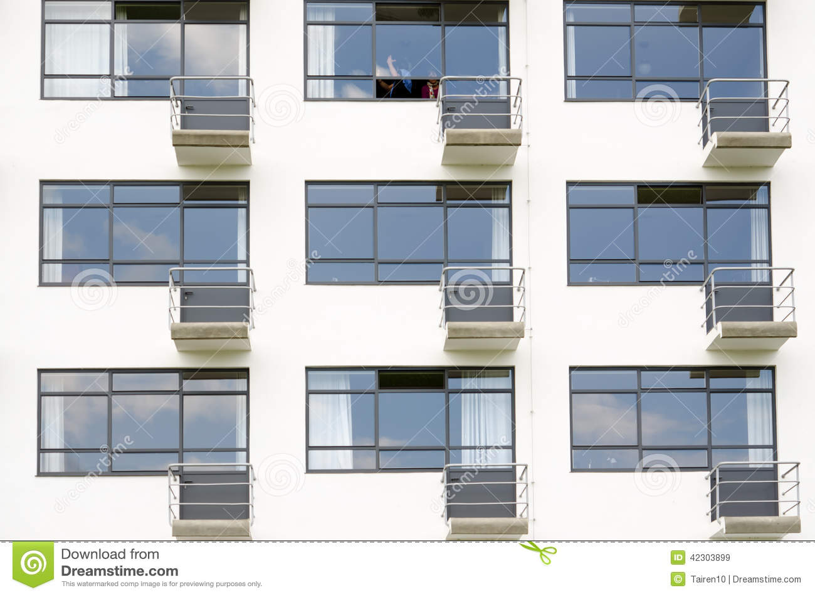 Facade with balconies stock photo image 42303899 for Pisos para balcones exteriores