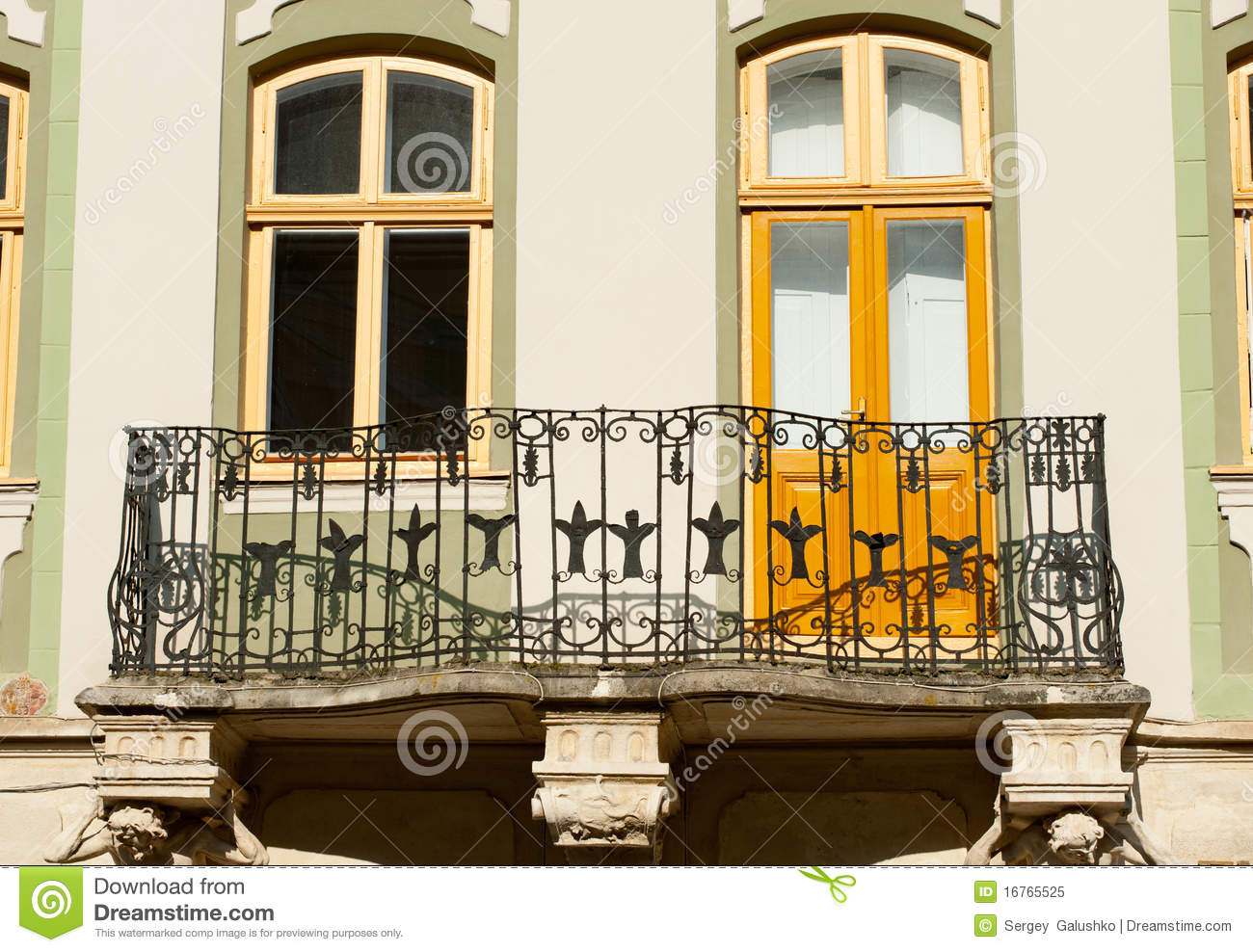 Facade of a building with a balcony royalty free stock for Building balcony