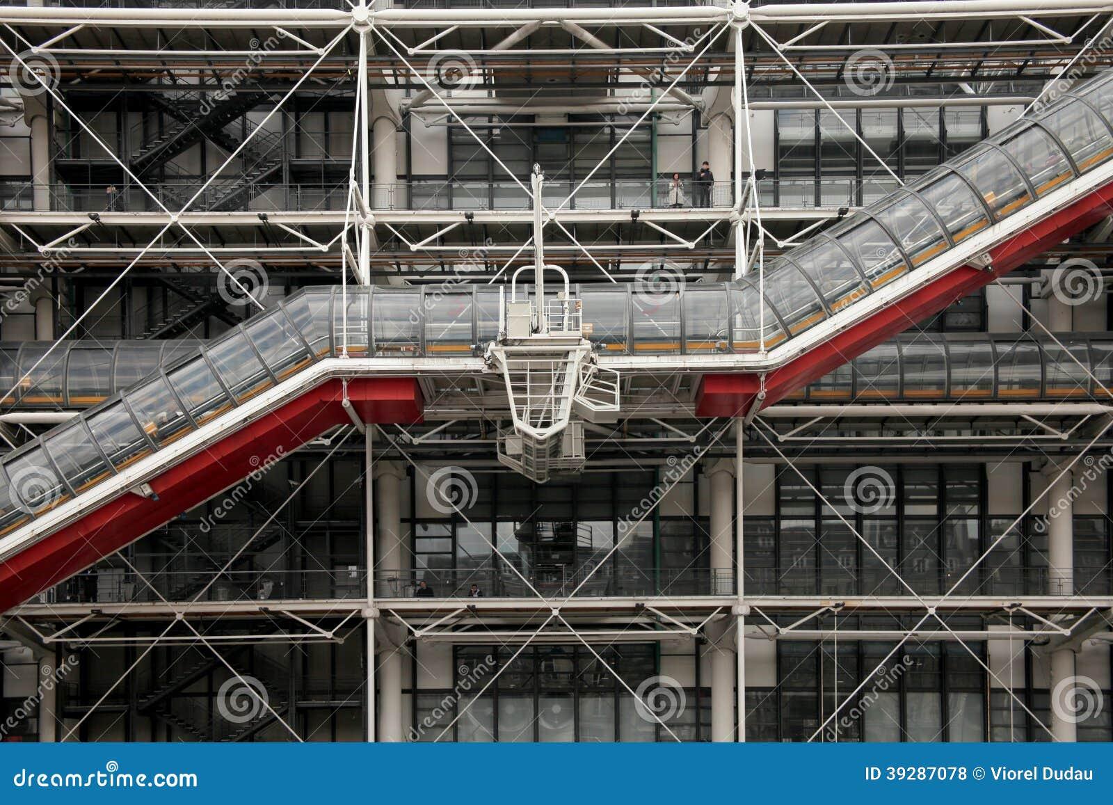Facade of centre pompidou museum in paris stock photo - Centre george pompidou architecture ...