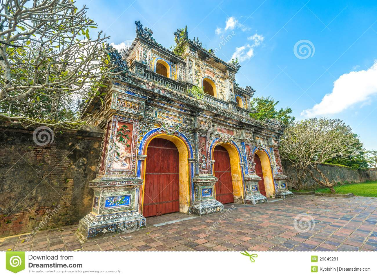 beautiful gate to citadel of hue in vietnam asia stock image image 29849281. Black Bedroom Furniture Sets. Home Design Ideas