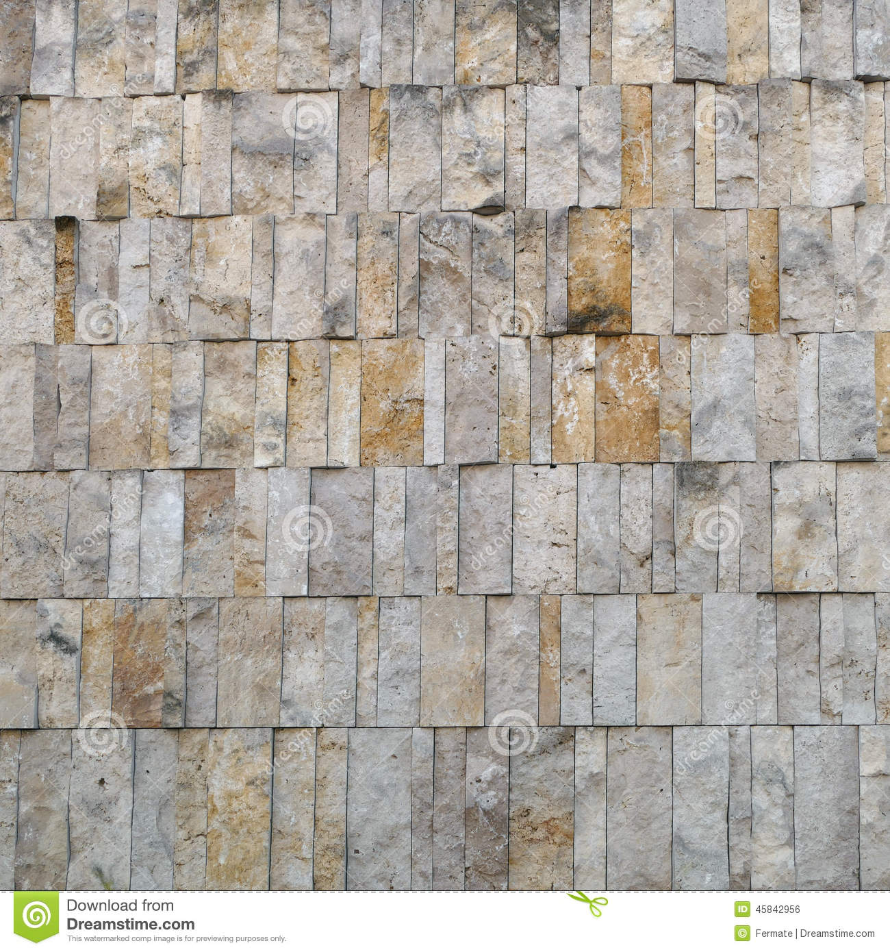 Facade cladding or wall finishing of pale ocher stone for Stone building facade