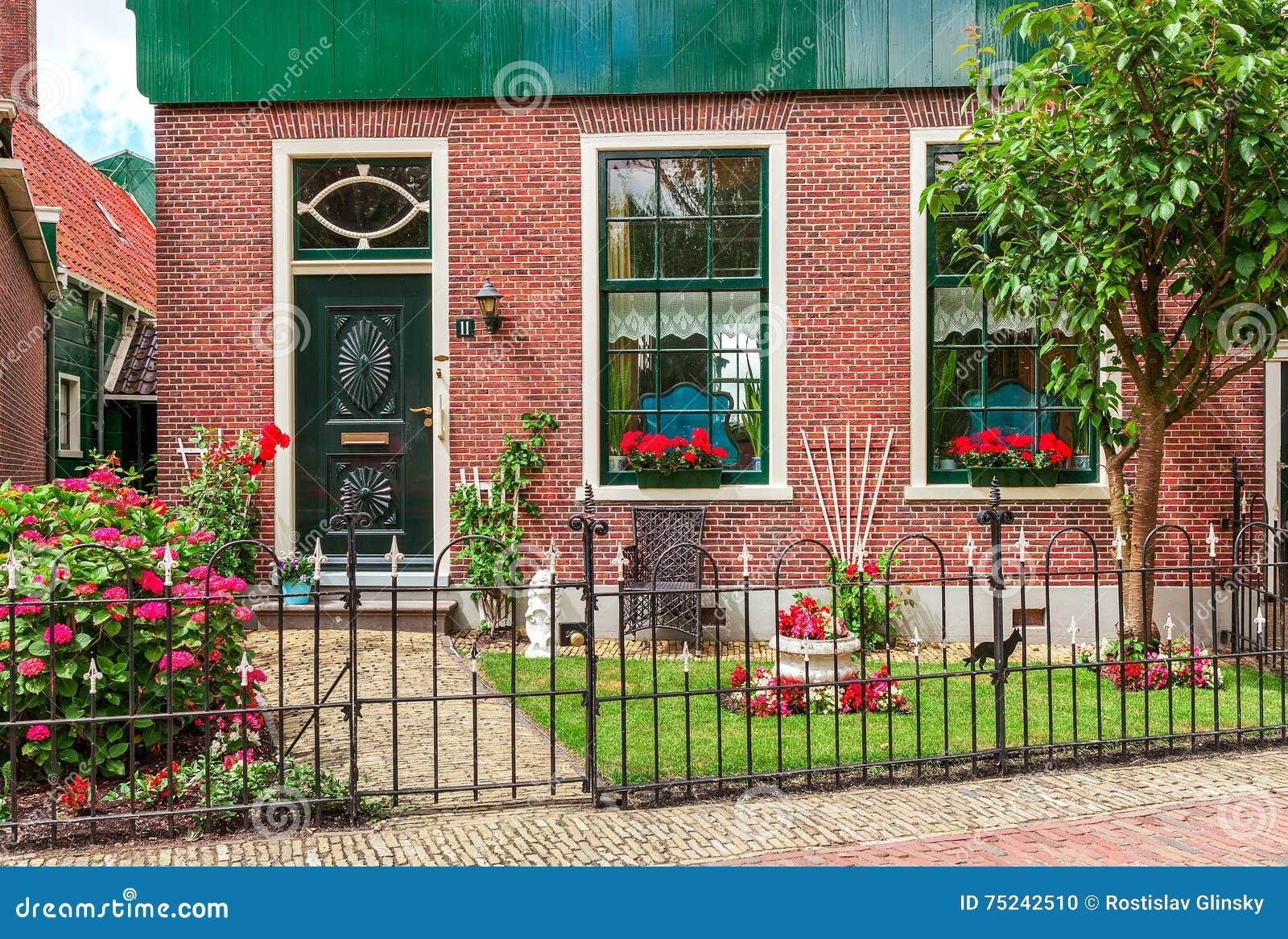 Facade of dutch house.