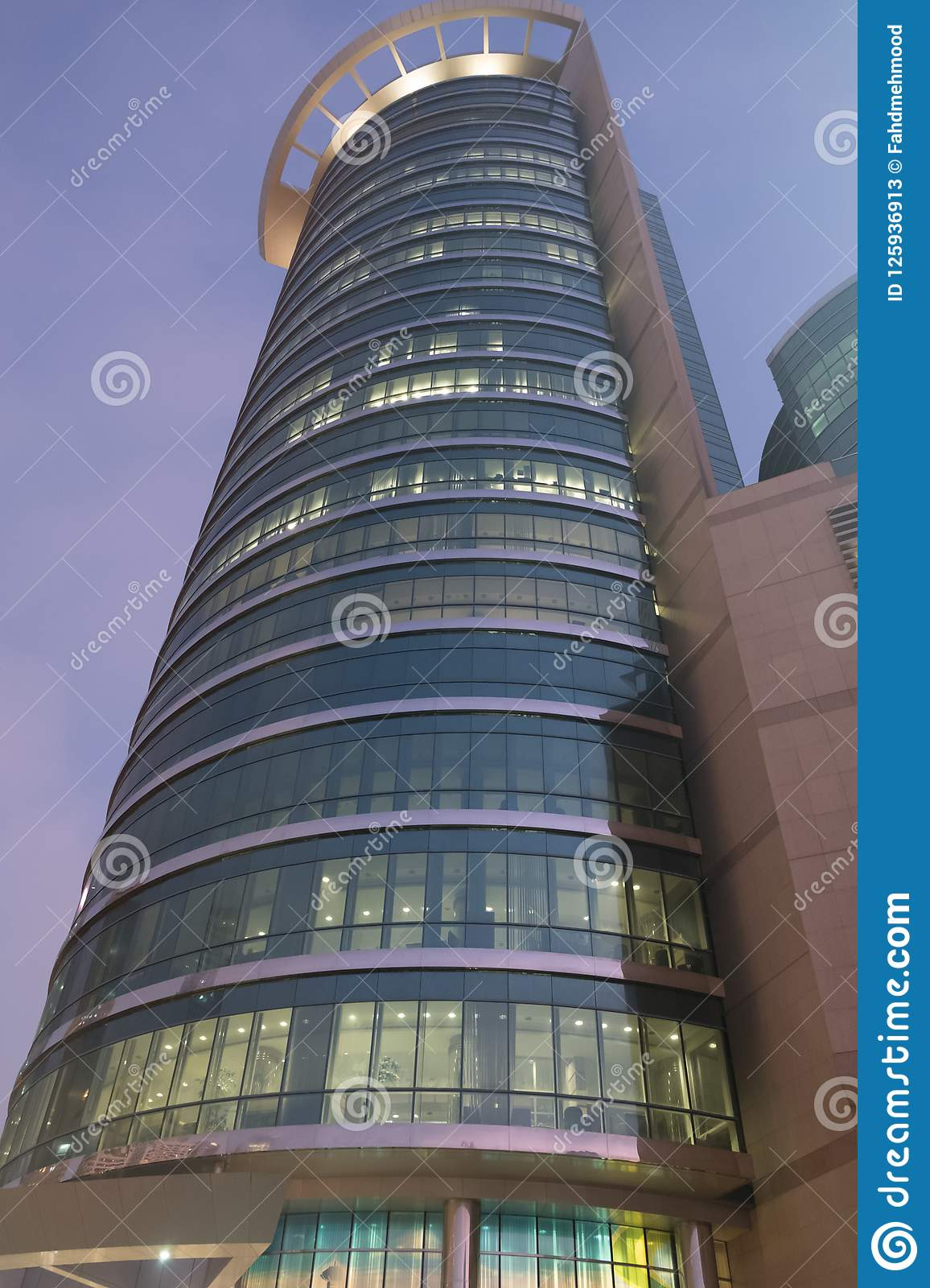 Etisalat Headoffice Building Abu Dhabi Editorial Stock Photo - Image