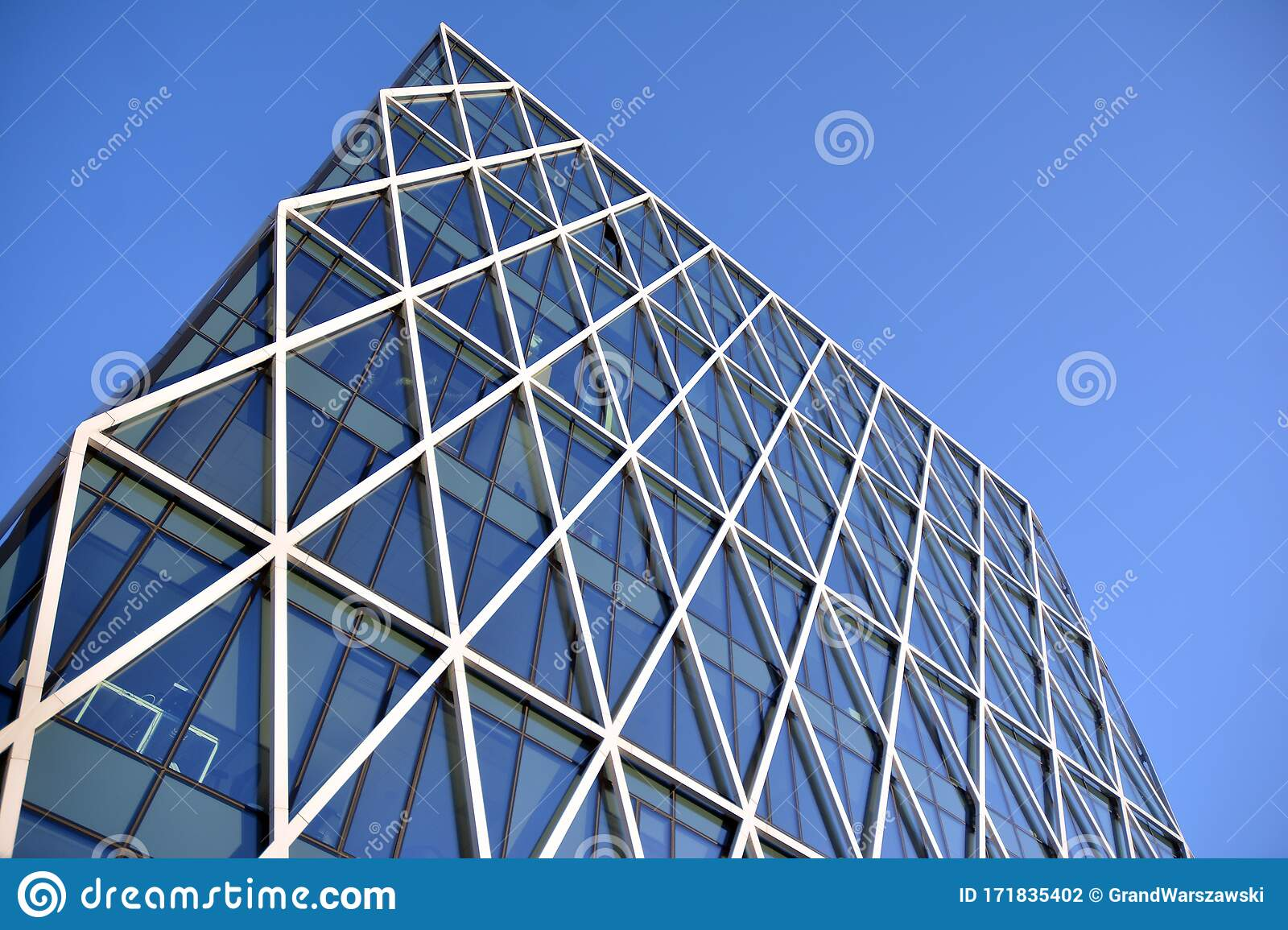 Facade Fragment Of A Modern Office Building Exterior Of Glass Wall With Abstract Texture Stock Photo Image Of Management Design 171835402
