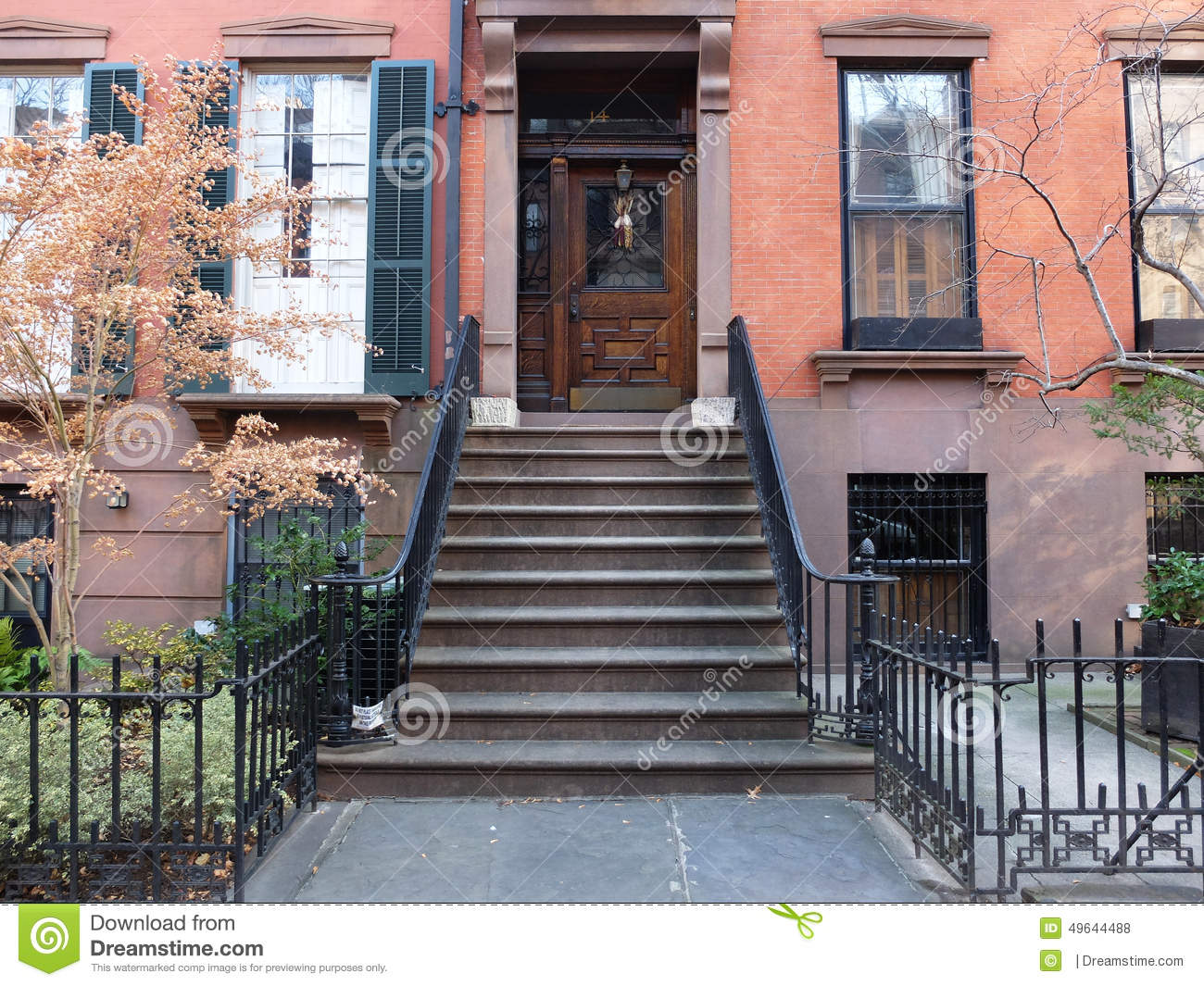 Facade of the house in brooklyn editorial stock photo for Casa famiglia new york