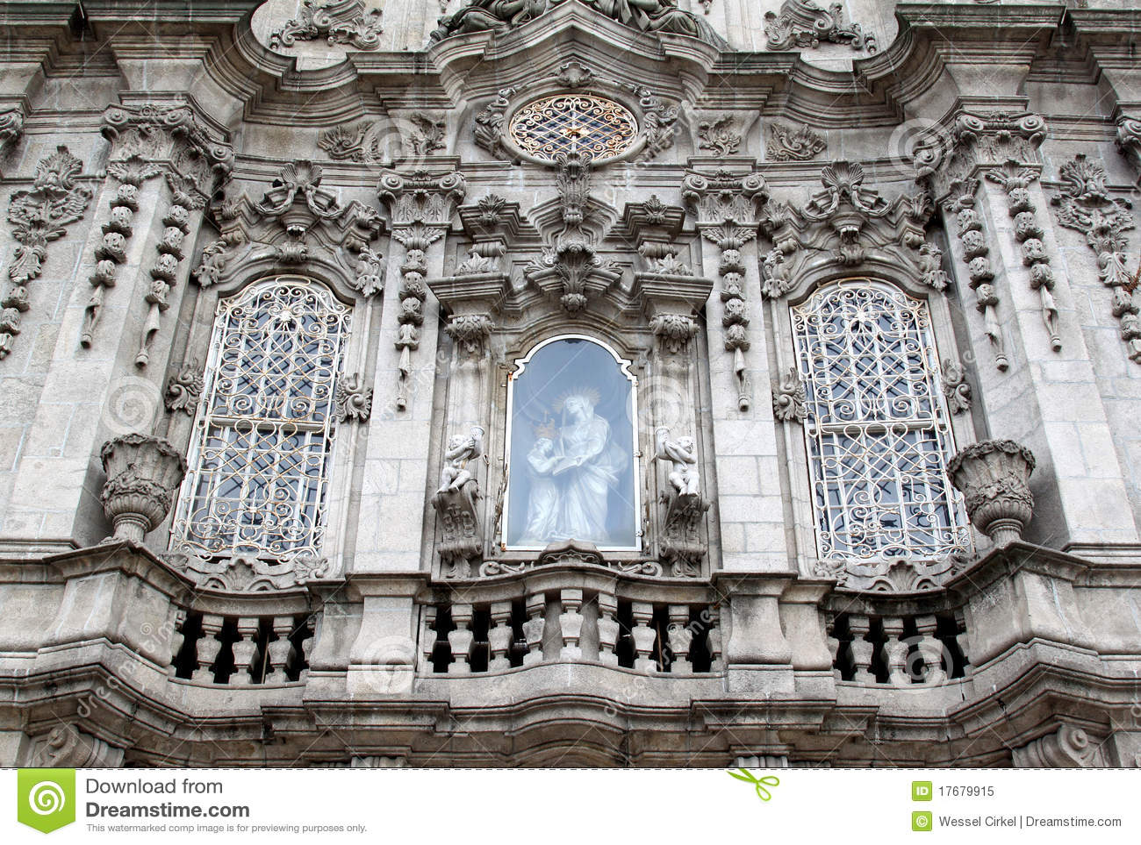 Facade of Igreja do Carmo in Porto, Portugal