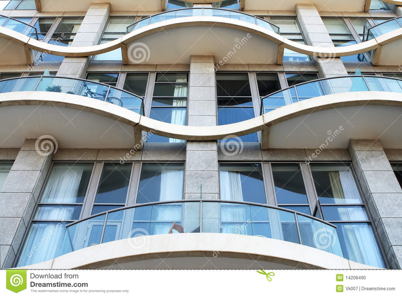 Facade of a modern apartment house stock photo image for Multi storey apartment modern design