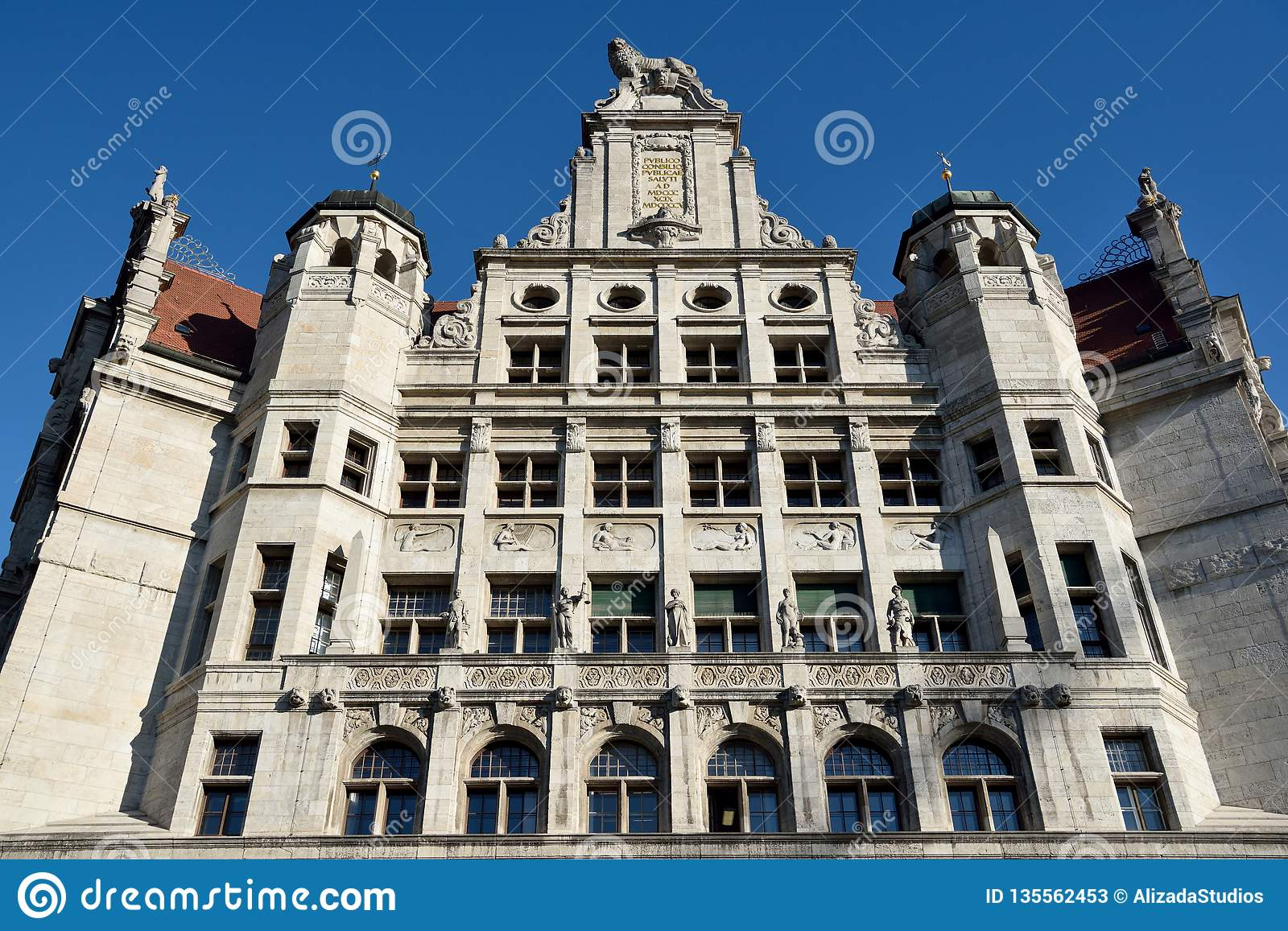Facade Of New Town Hall Neues Rathaus Building In Leipzig Editorial Stock Photo Image Of Building Book 135562453