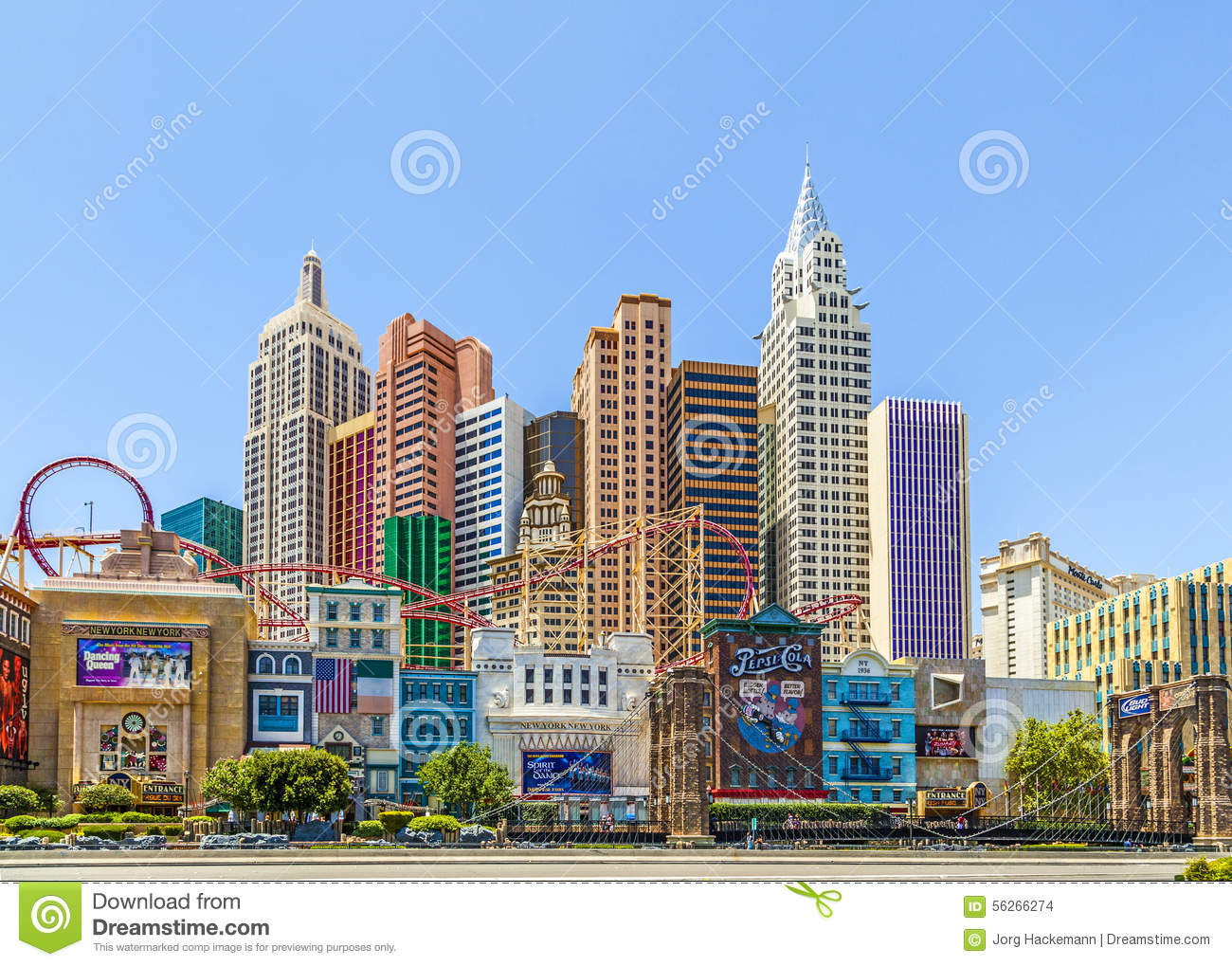 facade of new york new york hotel casino editorial stock image image of famous gamble. Black Bedroom Furniture Sets. Home Design Ideas