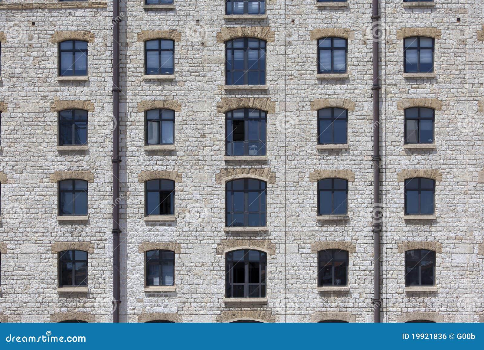 Stone Building Facade : Facade of an old stone building royalty free stock image