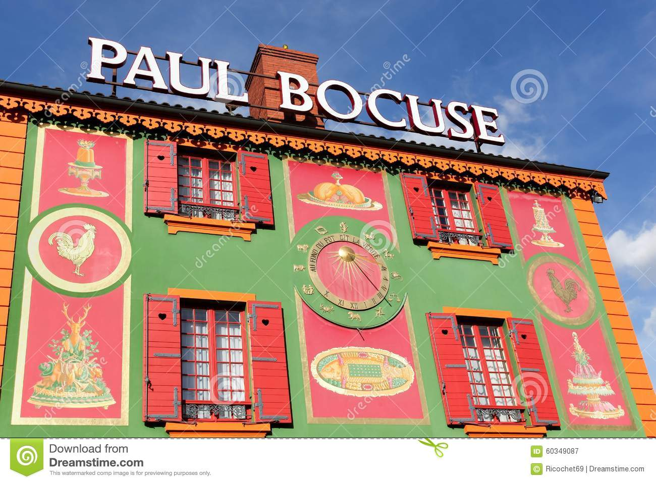 Facade of paul bocuse restaurant in lyon france editorial for Stock cuisine lyon