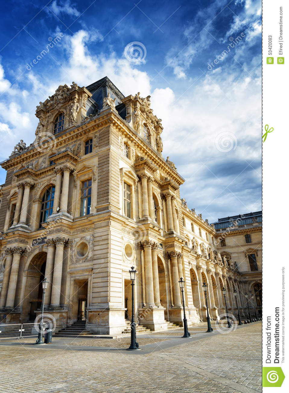 The Facade Of The Pavilion Mollien Of The Louvre Museum In Paris Stock Photo