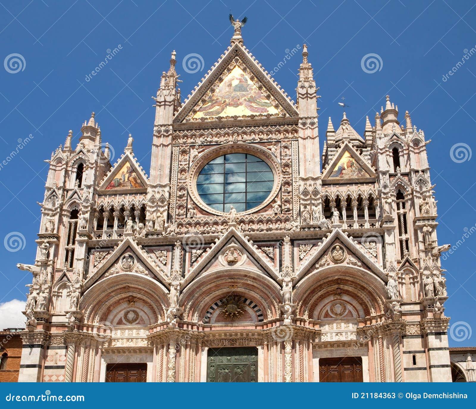 Facade of Siena dome, Italy