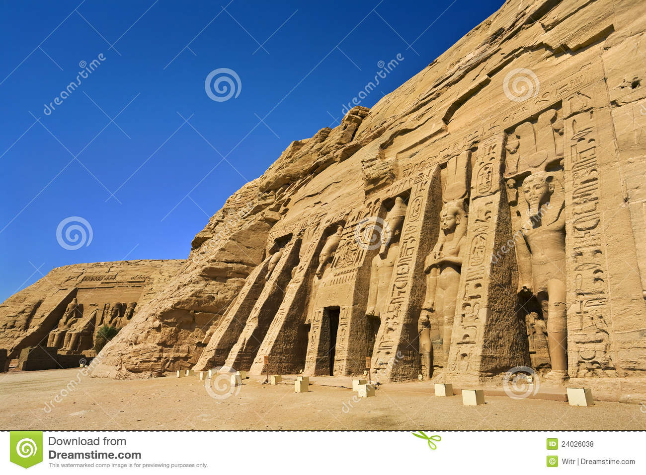 Facade of the Small Temple at Abu Simbel