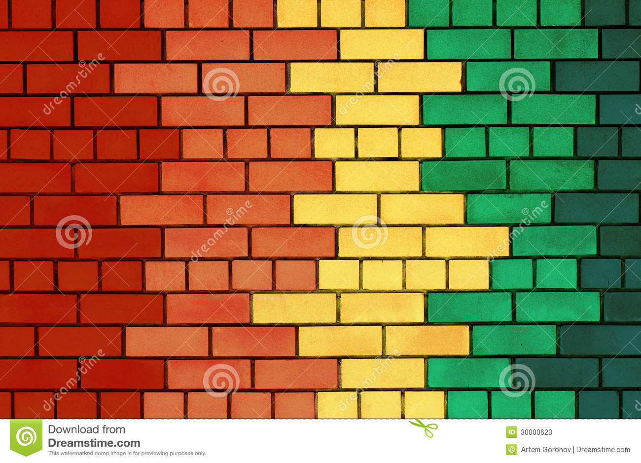 Colorful brick wall stock image. Image of large, group - 30000623