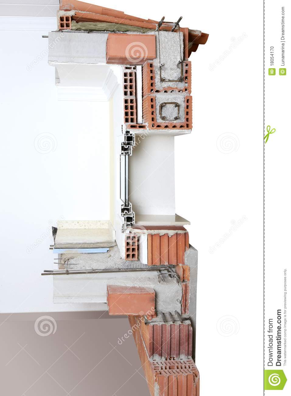 Block And Beam Floor Prices >> Facade Wall Cross Section Real Of Brick Blocks Stock Photo - Image: 18054170