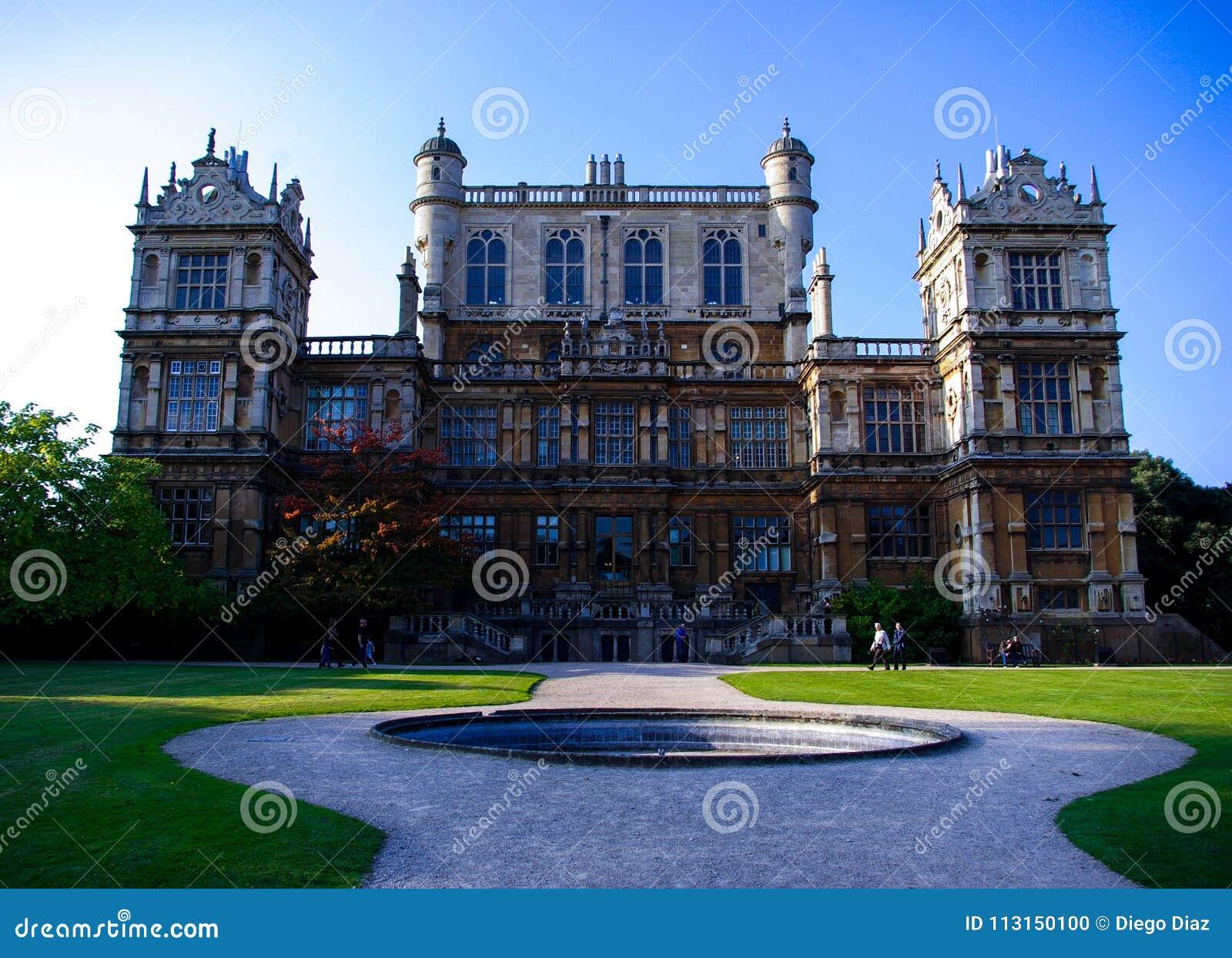 Facade of Wollaton Hall in Nottingham