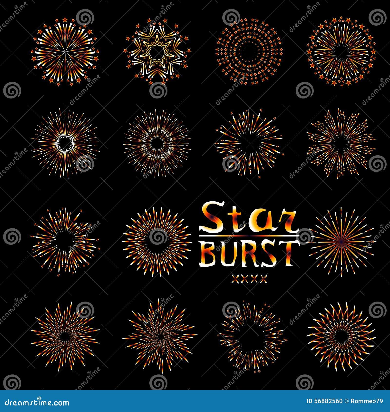 Faccia festa l illustrazione di vettore isolata insieme del piano dell icona del fuoco d artificio di evento di festa