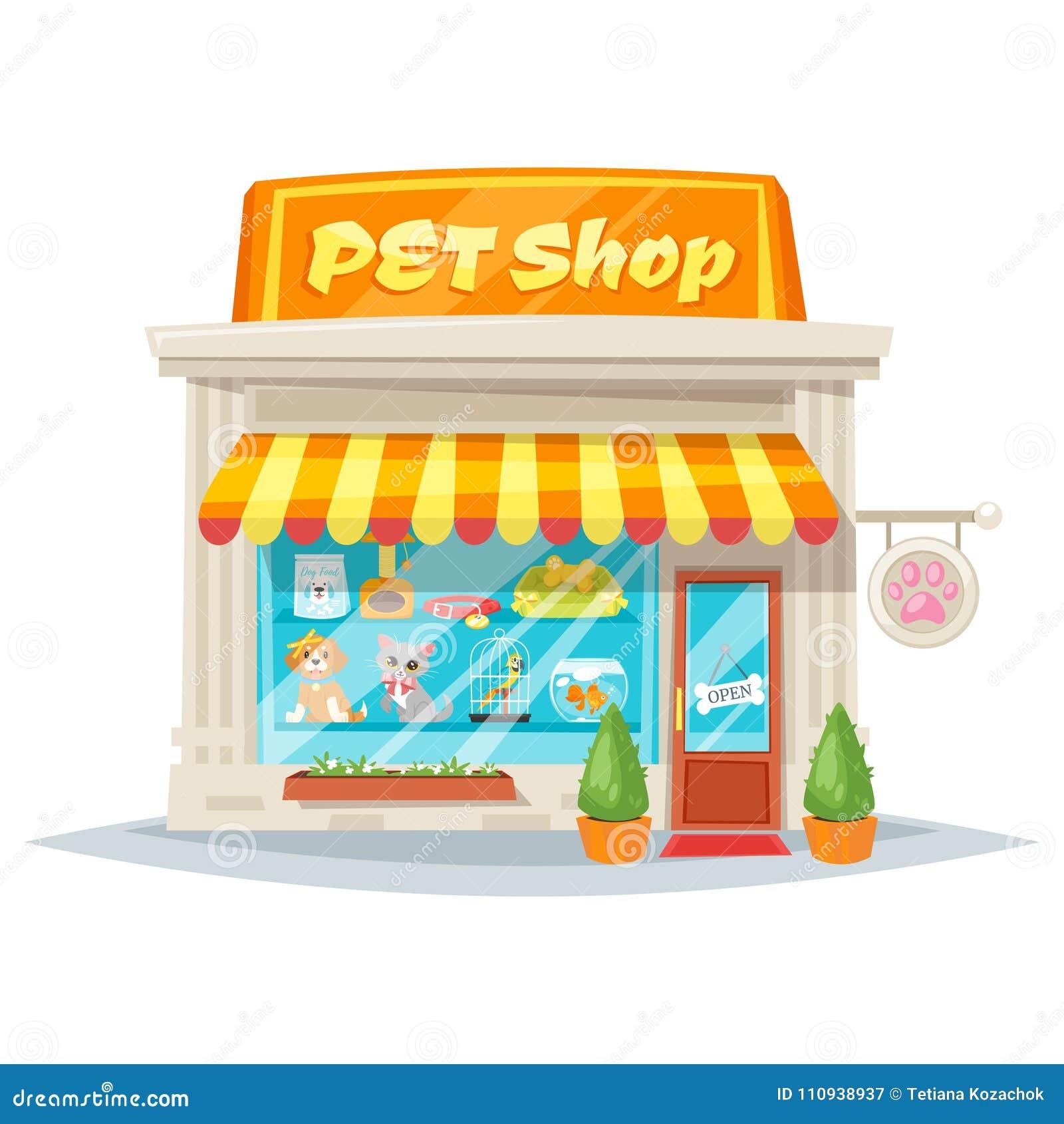Facciata del negozio di animali