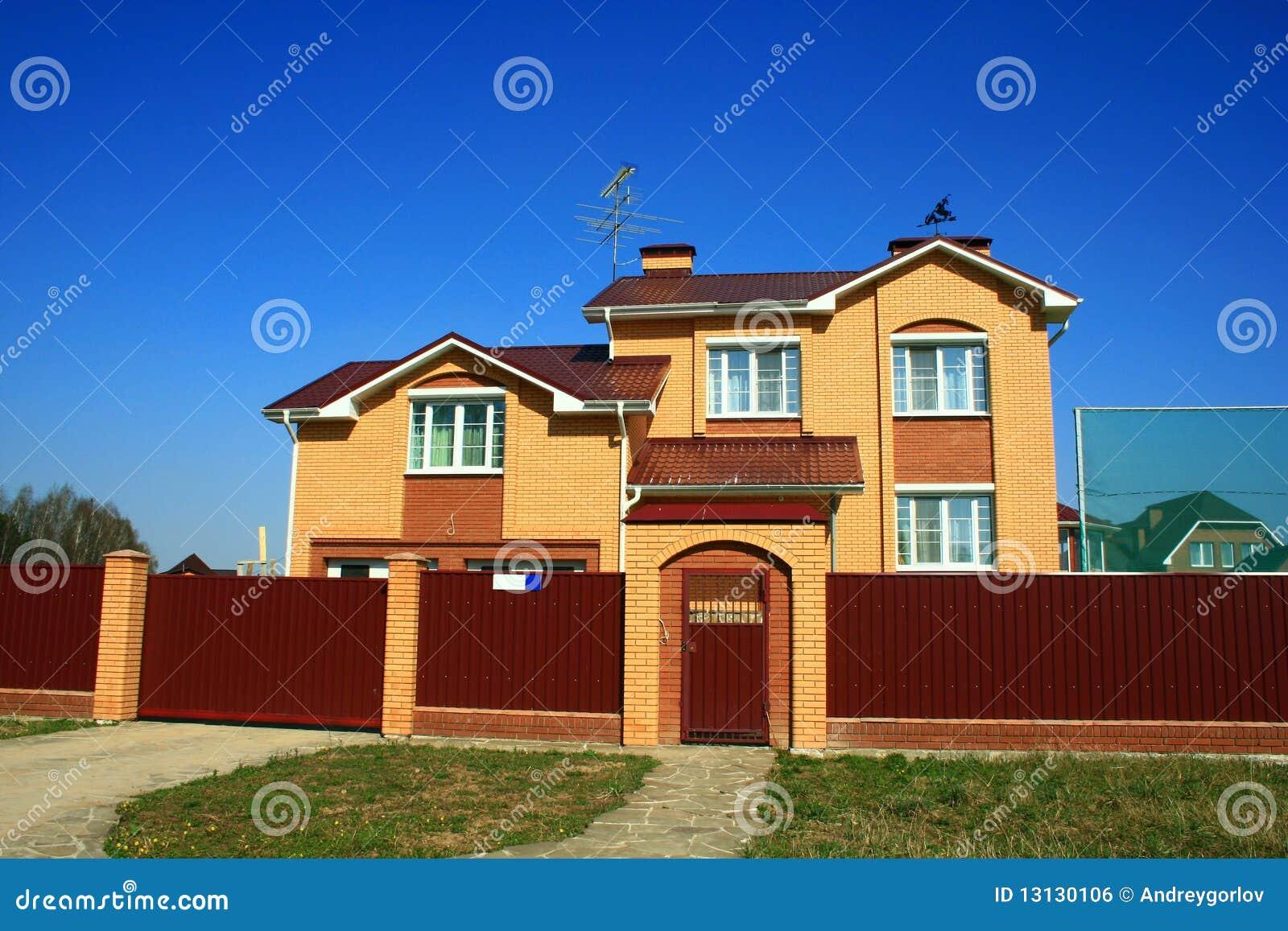 Facciata della casa di campagna da vendere immagine stock for Design della casa libera