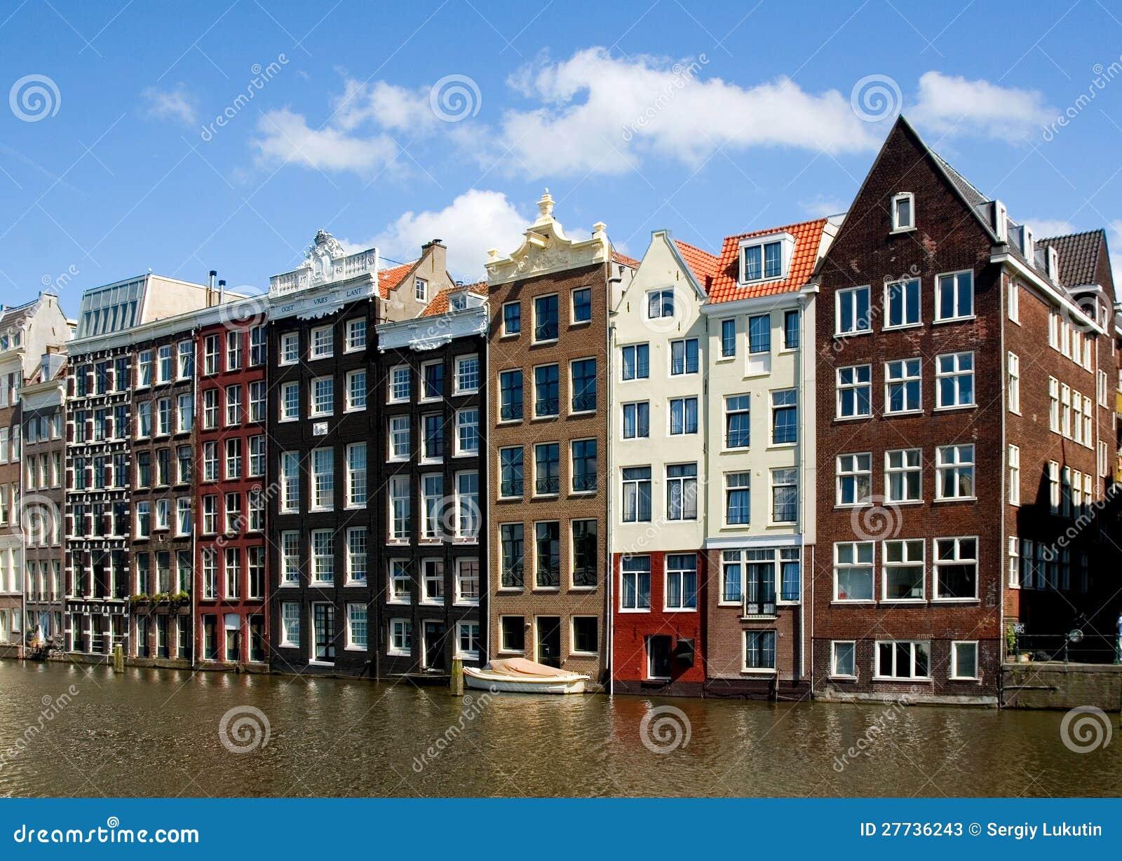 Facciata delle case a amsterdam fotografie stock for Case amsterdam economiche