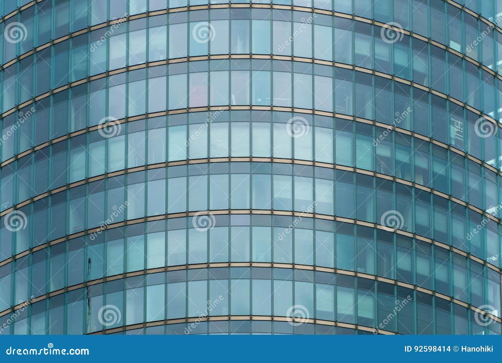 Facciata di vetro architettura moderna edificio per uffici