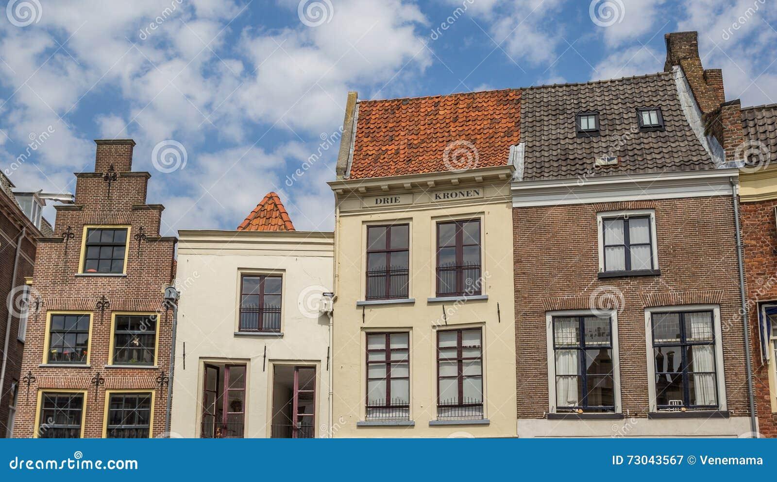 Facciate di vecchie case in zutphen fotografia editoriale for Facciate di case classiche