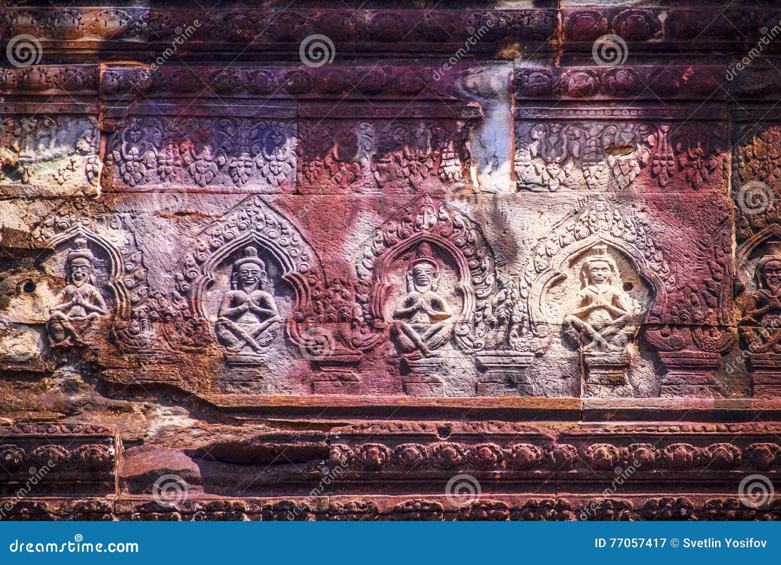 Face of Angkor Wat stock image  Image of angkor, khmer