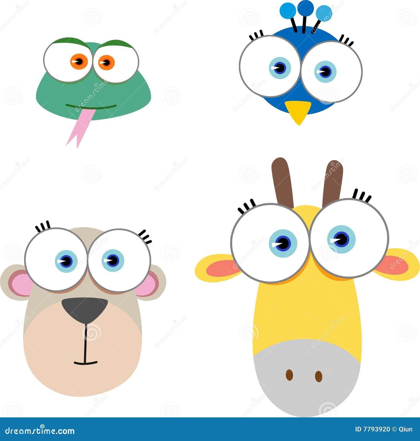 face animal com olho grande ilustração do vetor ilustração de