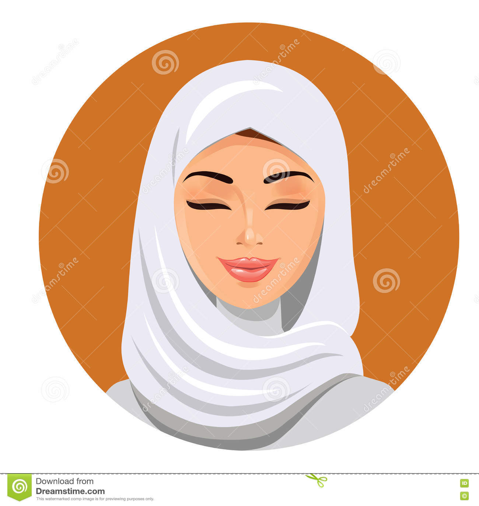 muslim girl in hijab vector illustration cartoon vector