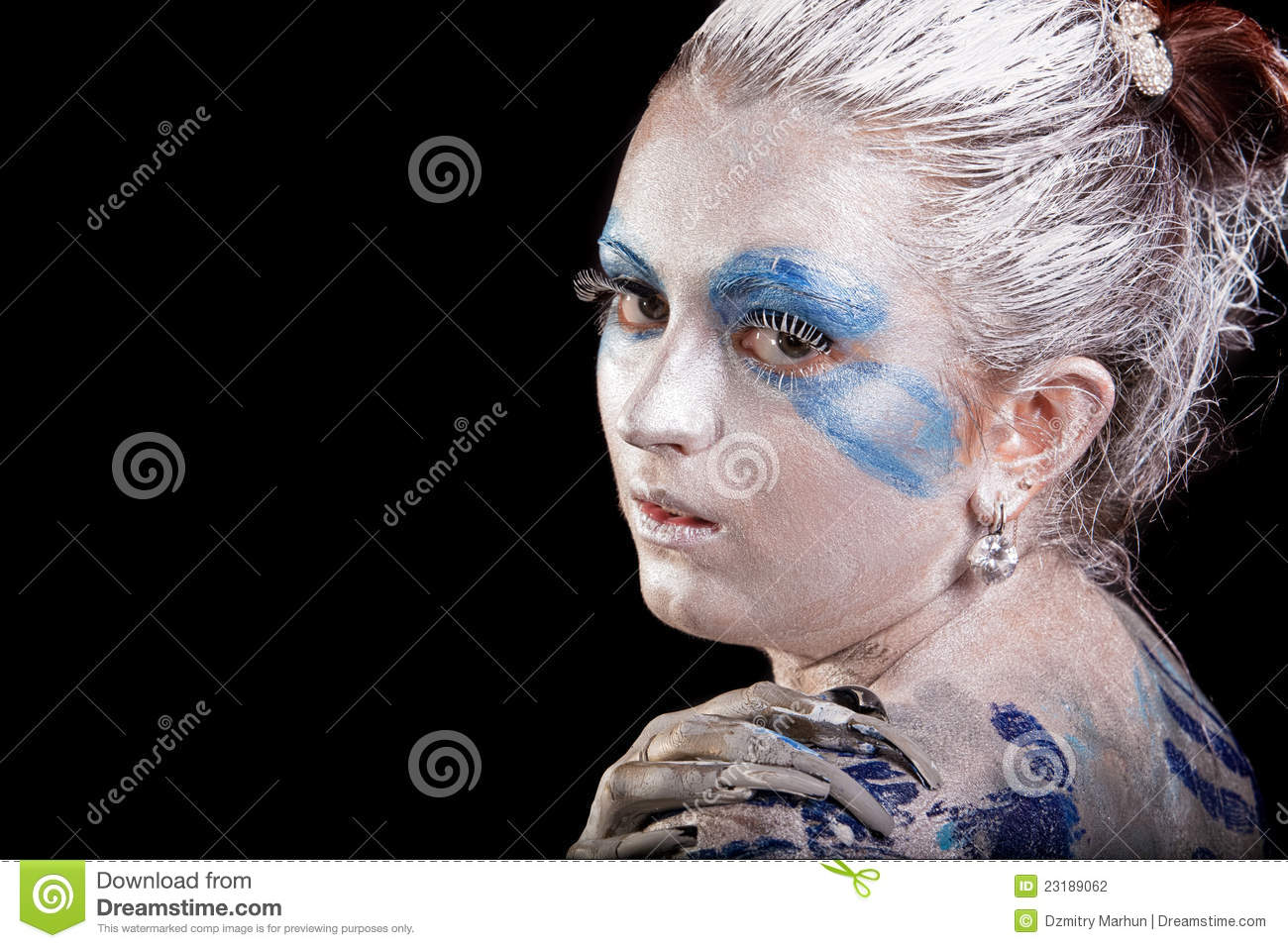 Face-art Beauty Stock Photography - Image: 23189062