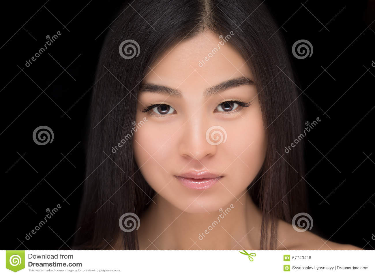Asian lady face