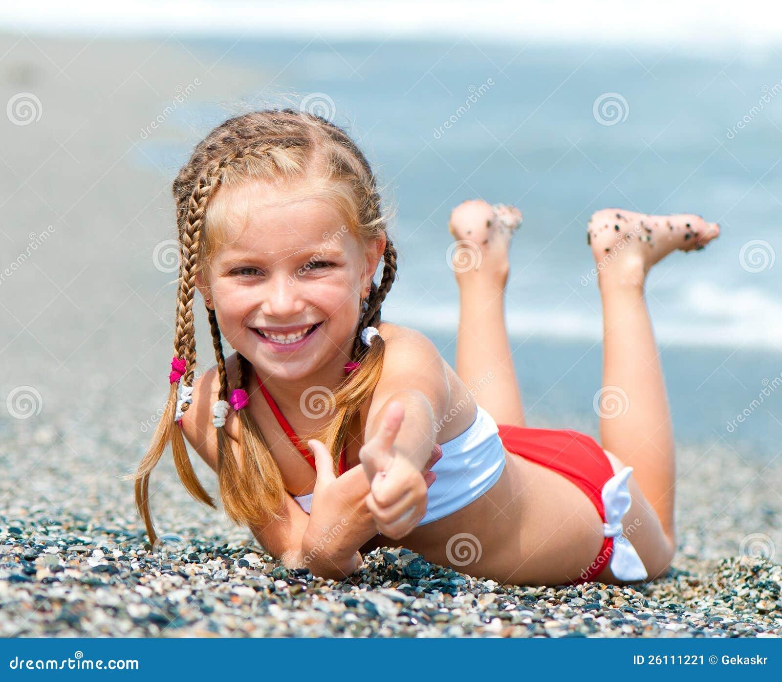Beautiful Woman Face Over Beach Sunset Stock Image: Face Of The Beautiful Girl On A Beach Stock Image