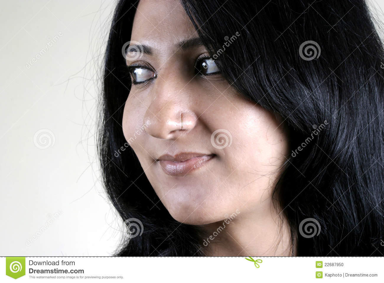 face of beautiful indian stock photo image 22687950