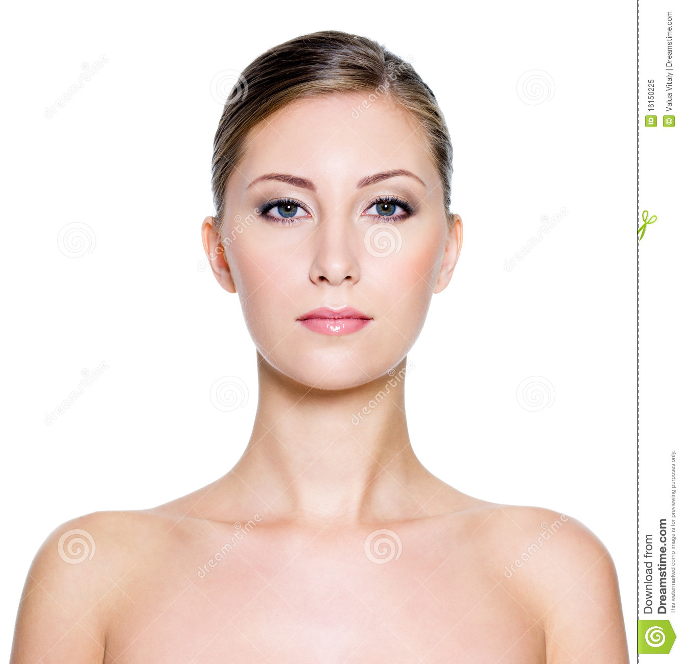 Face Of A Beautiful Woman Royalty Free Stock Photo
