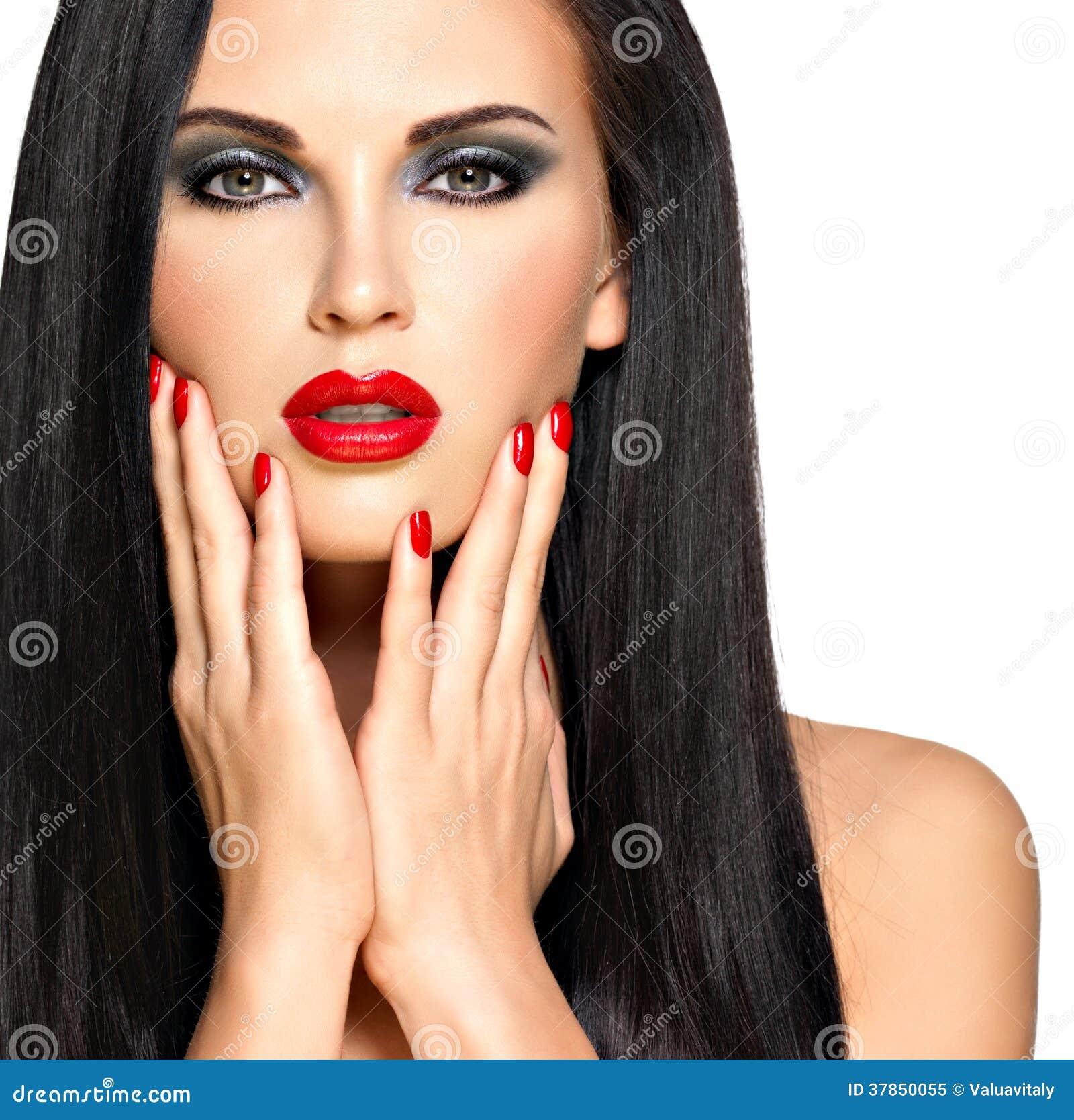 thumb Female models nails free