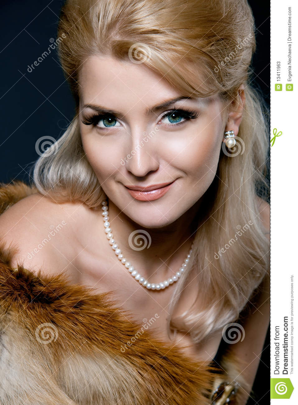 Face Of A Beautiful Young Blond Woman Stock Image - Image ...